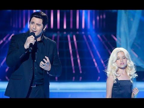 Daniel Diges y Julia imitan a Alejandro Fernández y Christina Aguilera en Tu cara me suena Mini