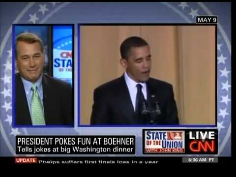 John Boehner Reacts To Obama's Correspondents Dinner Joke