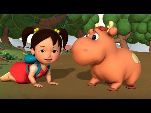 Английский язык для малышей - Мяу-Мяу - Мама для лосенка (Helping Baby Moose) - учим английский