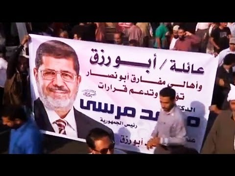 Thousands join protest to support President Morsi