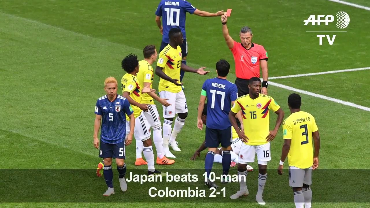 Osako header seals Japan win over 10-man Colombia