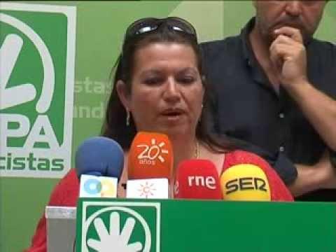 Patrona Mayor Cofradía Pescadores Algeciras en Rueda Prensa PA