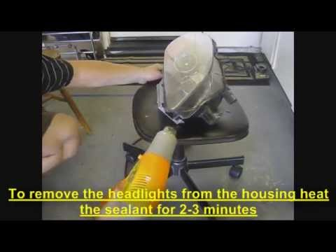 How to change Honda S2000 amber inner headlight reflectors with clear ones (1 of 2)
