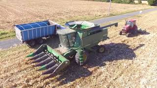 Finishing Corn Harvest w/Drone in Southern Maryland