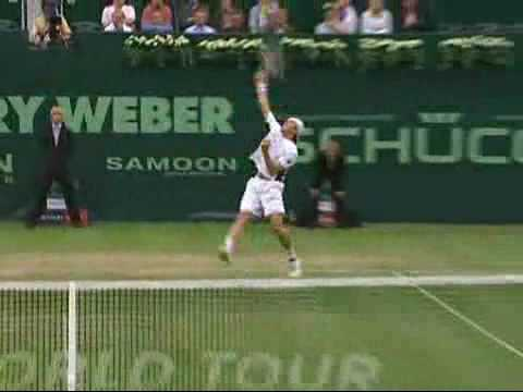 Halle 2009 - Tommy Haas vs Jo-Wilfried Tsonga (End of match) Video