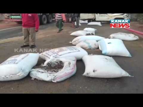 Vehicle Loaded With 700Kg Ganja Met With Accident In Tamando