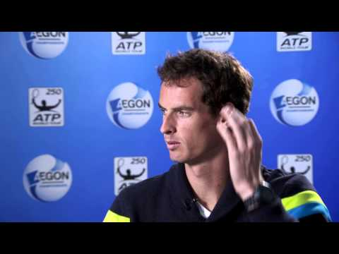 Andy Murray chats to Ross Hutchins about the Aegon Championships