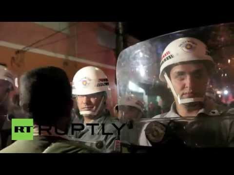 Brazil: Protesters confront police at anti-World Cup demo