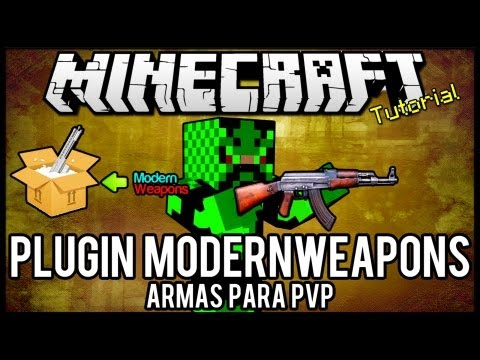 [Tutorial]ModernWeapons - Armas para PVP minecraft