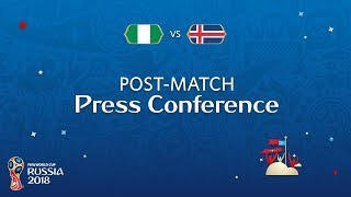 FIFA World Cup™ 2018: Nigeria - Iceland: Nigeria v. Iceland - Post-Match PC