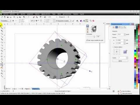Curso de CorelDraw - Crear una rueda con efecto 3D - Part 9