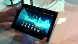 Sony Xperia Tablet S Kurztest - Deutsch @ IFA 2012