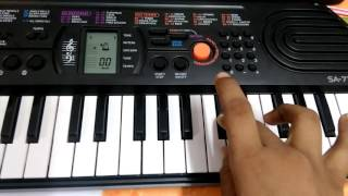 Learn sa ra ga MA PA on Casio in 12 seconds by mishra technology