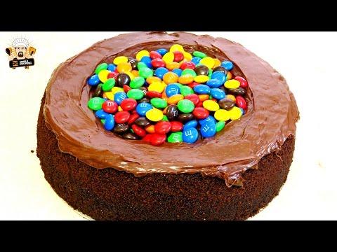 RED WINE CHOCOLATE M&M CAKE