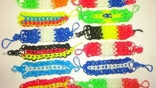 PULSERAS DE GOMAS ELASTICAS CON COLORES DE SELECCION MEXICO.RUBBER BRACELETS WITH COLORS OF MEXICO