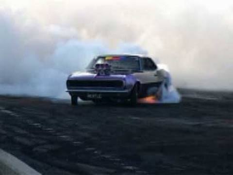Crazy Camaro Burnout