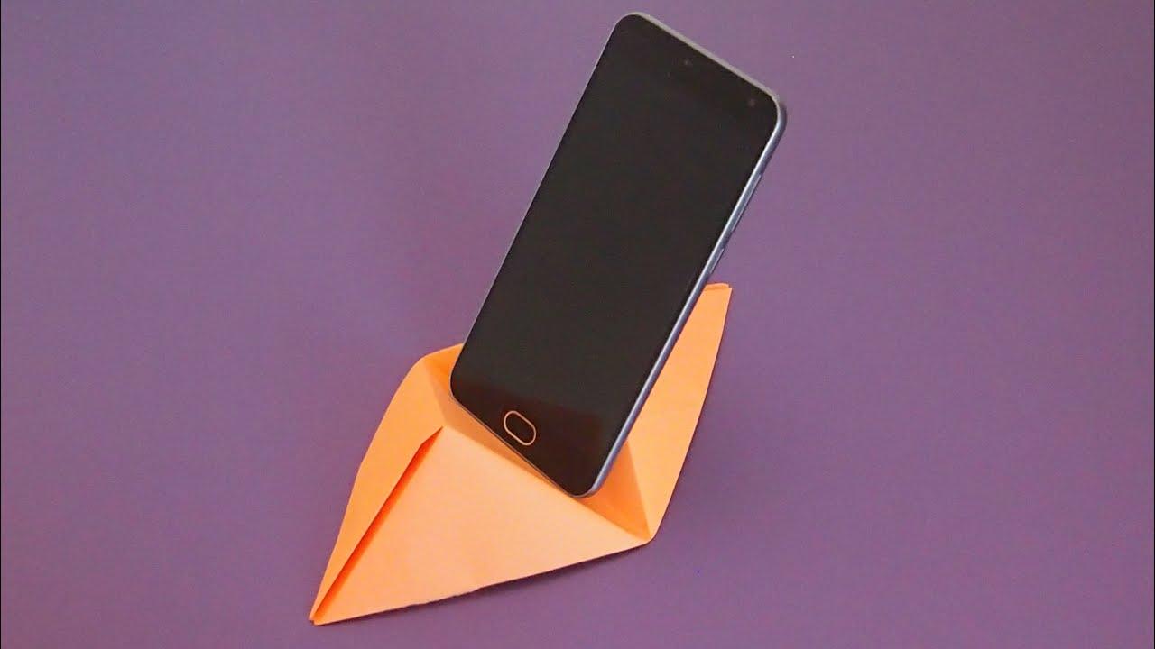 Как сделать подставку из бумаги для телефона чтобы снимать видео