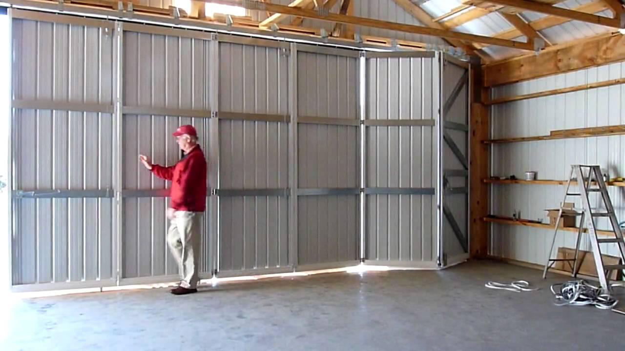 Door In Vermont Inside Hangar Fold Tite Stacker Youtube