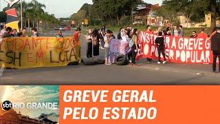 Veja como foi a sexta-feira de greve geral pelo Rio Grande do Sul - SBT Rio Grande - 14/06/19