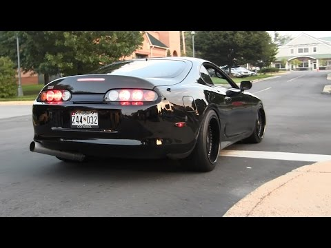 LOUD Toyota Supra 2 Step REV Leaving Cars and Coffee