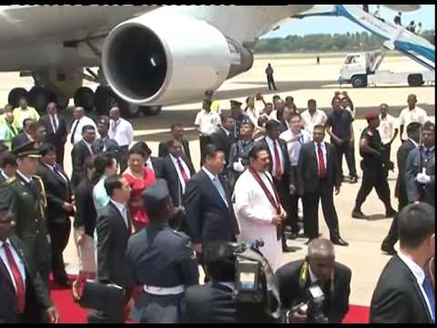 China president arrive to srilanka