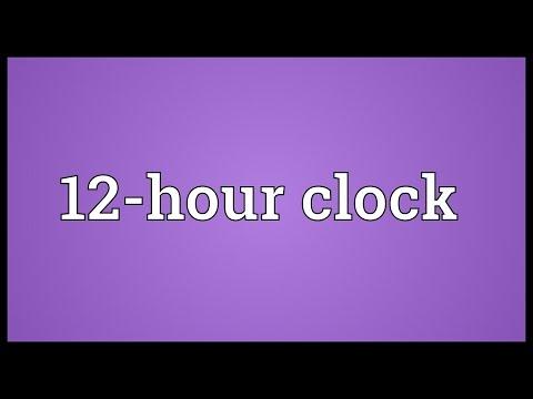 Header of 12-Hour Clock