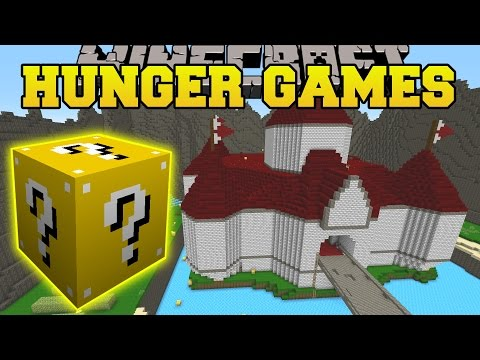 Minecraft: Princess Peach Castle Hunger Games - Lucky Block Mod - Modded Mini-game video
