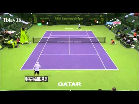 Tennis Best Of 2013 (#2) / Qatar 2013= Mikhail Youzhny and Benjamin Becker Incredible Point (HD)