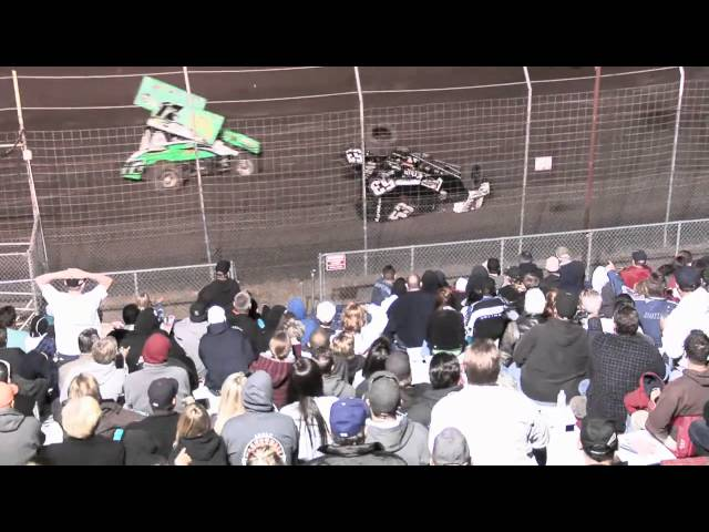 Highlights of the Golden State King of the West 410 sprint cars and Wheelie Contest