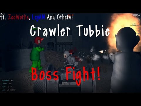 CRAWLER TUBBIE BOSS FIGHT  Slendytubbies 3 V127 Gameplay  ft ZeoWorks LeyAM and Others