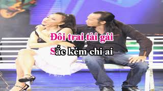[Karaoke] Trai Tài Gái Sắc Song ca (Hoài Linh ft Cẩm Ly)