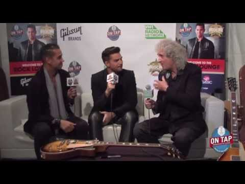 Pt 1: Brian May & Adam Lambert Backstage Classic Rock Awards 2014 video