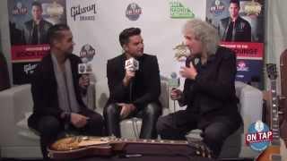Brian May & Adam Lambert Backstage Classic Rock Awards 2014 Pt1