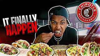 its finally happening... I waited 2 years for this. | chipotle mukbang