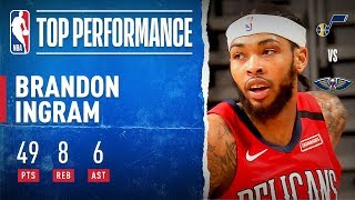 Brandon Ingram Drops CAREER-HIGH 49 PTS!