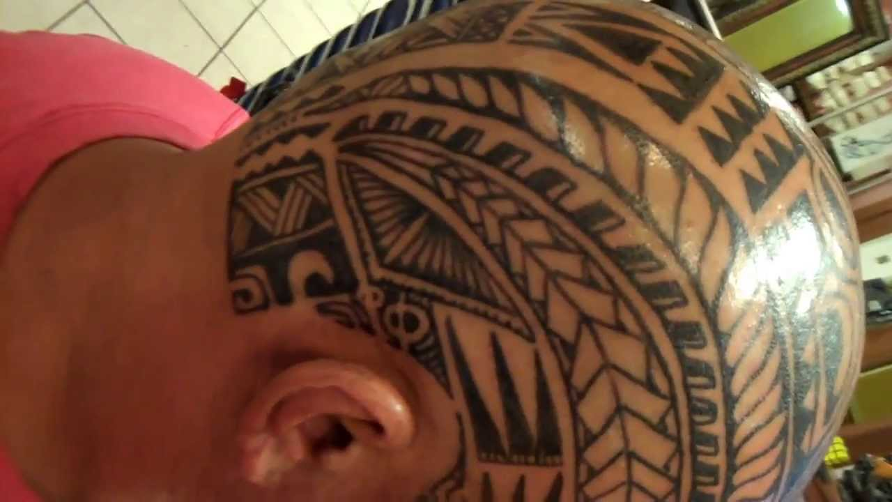 polynesian poly inspired freehand head skull tattoo youtube. Black Bedroom Furniture Sets. Home Design Ideas