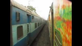 Parallel Race_ Duronto Overtaking Indian Express Train of INDIAN RAILWAYS