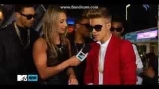 Justin Bieber Interview on the Purple Carpet - Believe Premiere, LA 2013