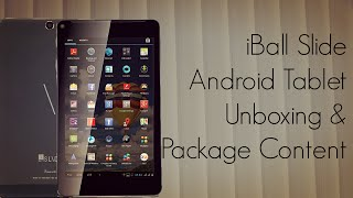 iBall Slide Android Tablet Unboxing & Package Content
