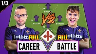 1 VS 1 - FULL CAREER BATTLE CHALLENGE con la FIORENTINA!! SFIDA PAZZESCA!! EPISODIO FINALE 1/3