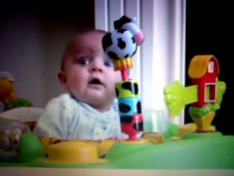 baby scared at mum blowing her nose - funny!