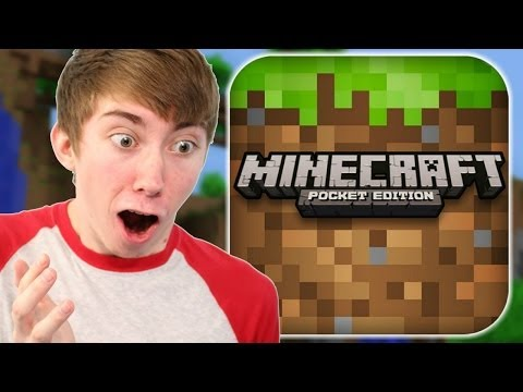 MINECRAFT: POCKET EDITION - Part 2 (iPhone Gameplay Video)