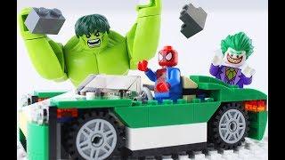 LEGO Super Heroes STOP MOTION LEGO Spiderman And Hulk: Cruiser Build | LEGO Hulk | By Billy Bricks