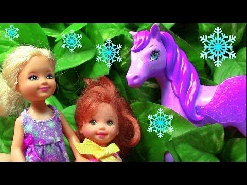 Frozen Barbie Fairy Pegasus Pony Toddler Princess Anna Elsa Castle Play Parody Part 8