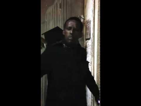 Homeless Somali guy rapping in Somali...