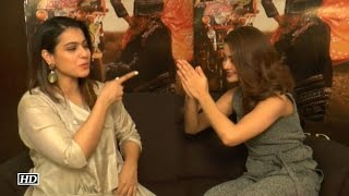 Surveen Chawla BOWS DOWN In Front Of Kajol - Watch Video