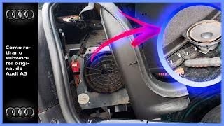 Audi A3   Como retirar SUBWOOFER original 《Estava detonado》
