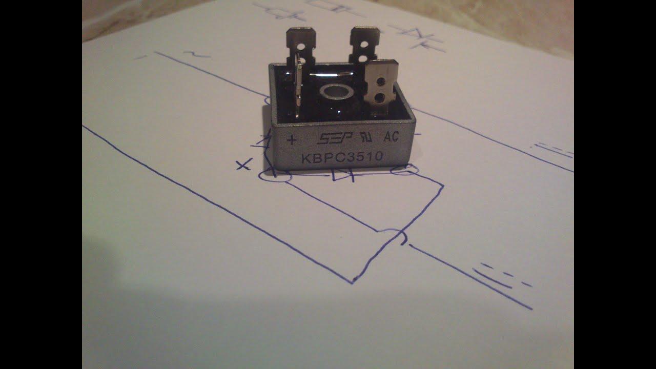 Как сделать диодный мост для генератора своими руками
