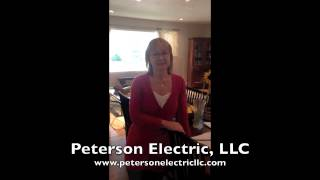 CO Electrical Customer Testimonial, 1940s Home, Halogen Bulb Light Fixture, A Fire Hazard
