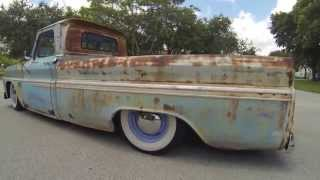 65 Chevy C10 Rat Rod Surfer Truck For Sale - Mobile Device Video